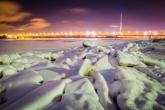 Pastaiga pa Daugavas ledu