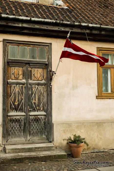 Kuldiga Latvijas karogs