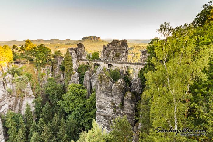 Smilšakmens klintis Čehijā - Basteja tilts