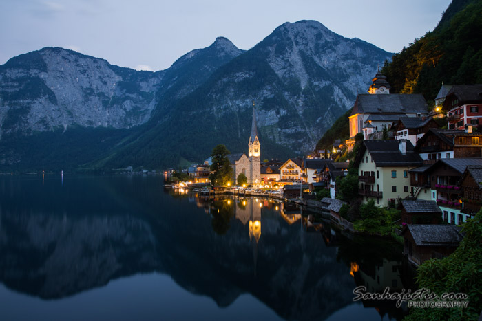 Night in Hallstatt Austria