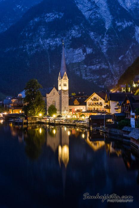 Night in Hallstatt Austria
