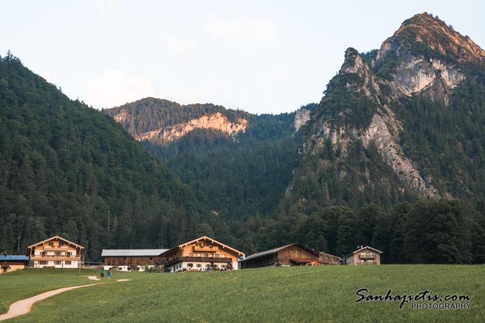 Konigsee kalnu ezers Vācijā