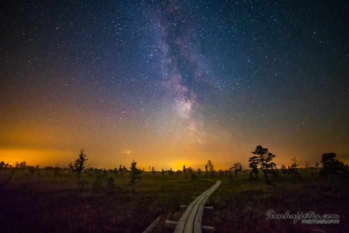 Ķemeru nacionalais parka taka un Piena ceļš