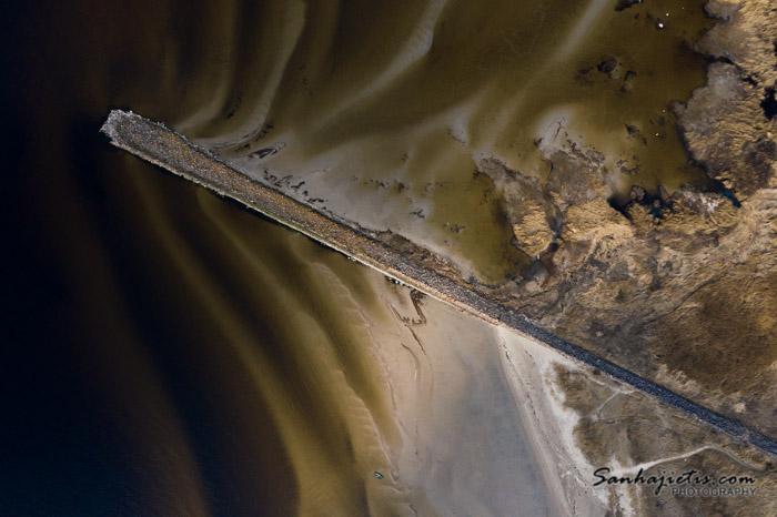 Ainažu Ziemeļu mols no putna lidojuma