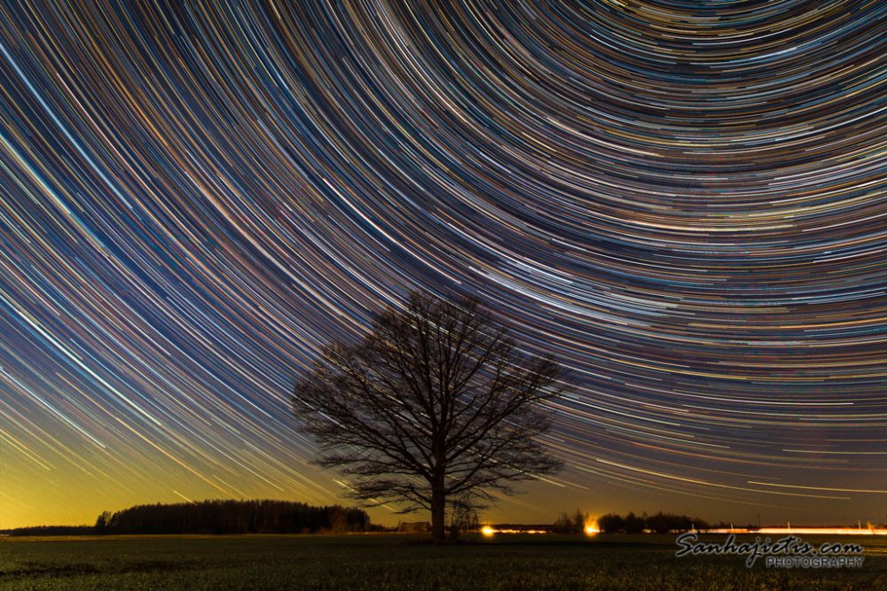 Star trail in Latvia